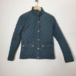 J.Crew Quilted Barn Jacket Gray Size XXS